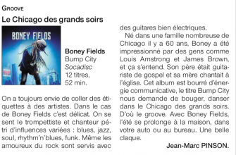 Boney Fields Ouest France  Bump City